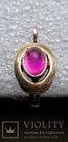 Серьга Серебро 925 Позолота, фото №4