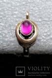 Серьга Серебро 925 Позолота, фото №5
