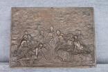 Картина рельефная ''грации в лесу'' бронза вес 930 грам, фото №3