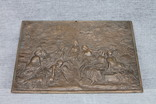 Картина рельефная ''грации в лесу'' бронза вес 930 грам, фото №4