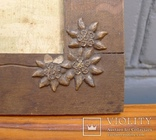 Старая рамка для фотографии с эдельвейсами + нож для бумаг ., фото №6