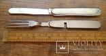 Винтажный набор туриста, нож и вилка складные. Европа. Клеймо., фото №5