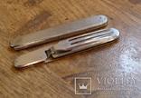 Винтажный набор туриста, нож и вилка складные. Европа. Клеймо., фото №10