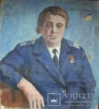 """Одесса, Варновицкий Д.А.""""Женский портрет в мундире"""", х.м.,37*33см, фото №2"""