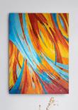 Червоний-оранжевий-голубий (90х70 см) Ю. Смаль
