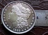 1 долар США 1885 р. Анциркулейт - срібло 900. См. обсуждение. фото 3