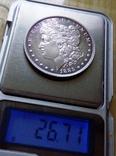 1 долар США 1885 р. Анциркулейт - срібло 900. См. обсуждение. фото 5