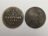 2 монеты по 1/4 крейцера 1781/82 г.г. Австрия photo 1