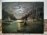Ночь, Н.Федоров холст масло подпись 61 на 80 см photo 7