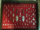 Панно серебряных фибул, 90шт photo 1