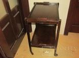 Сервировочный столик тележка складной со съёмными подносами Англия