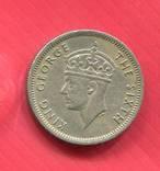 Малайя 10 центов 1950 Георг VI, фото №2