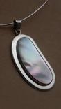 Серебряное колье с перламутром, фото №13