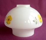 Плафон для торшера и ламп Цветок. Двойное белое молочное стекло., фото №3