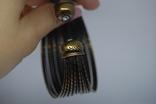 Широкий жесткий браслет с маркировкой MNG (Mango), фото №8