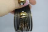 Широкий жесткий браслет с маркировкой MNG (Mango), фото №9