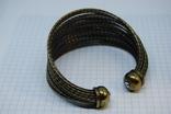 Широкий жесткий браслет с маркировкой MNG (Mango), фото №12