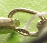 Браслет, серебро, каучук., фото №6