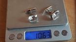 Советские запонки. Серебро 875 проба. Горный хрусталь., фото №9
