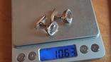 Советские запонки. Серебро 875 проба. Горный хрусталь., фото №10