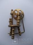 Коллекционная миниатюра Прялка. Латунь. Германия., фото №2