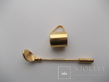 Коллекционная миниатюра Клюшка и кружка.Золочение Германия., фото №2