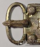 Большая пряжка с крестом.Готы.Серебро.8,2 см на 5 см. photo 2