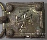 Большая пряжка с крестом.Готы.Серебро.8,2 см на 5 см. photo 3