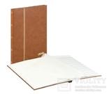 Кляссер Standard с 16 белыми страницами 230мм Х 305мм Х 15мм. 1160 - H. Коричневый. фото 2
