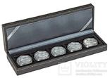 Нумизматическая кассета S серии Nera. 2362-5. Чёрный.