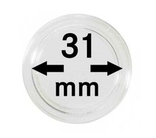 Монетные капсулы с внутренним диаметром 31 мм, в комплекте 10 штук. 2250031P.