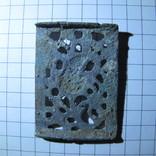 Османская узорчатая ременная накладка с остатками серебра, фото №5