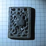 Османская узорчатая ременная накладка с остатками серебра, фото №8