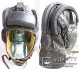 Утепленный зимний трех реберный танковый шлем кожзам., фото №7