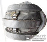 Утепленный зимний трех реберный танковый шлем кожзам., фото №8