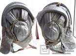 Утепленный зимний трех реберный танковый шлем кожзам., фото №9