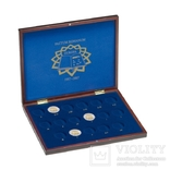 Кассета из дерева для 2 euro, римский дог.17 монет Leuchtturm (диаметр 32 мм).Hmkc2Eurom17