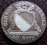 40 батценів 1813 року. Кантон Цюріх .Швейцарія (тільки один рік) фото 1