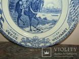 Настенная тарелка Herrijzend Nederland со свастикой Голландия 1945 photo 4