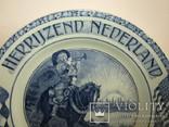Настенная тарелка Herrijzend Nederland со свастикой Голландия 1945 photo 8