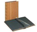 Кляссер серии ELEGANT NUBUK с 60 чёрными страницами. 1181 - H. Коричневый.