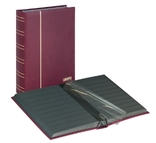 Кляссер серии ELEGANT NUBUK с 60 чёрными страницами. 1181 - R. Красный.