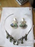 Колье серебро 925 халиотис ручная работа, фото №12