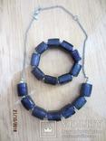 Кулон и браслет Marks&Spencer фиолетовое стекло, фото №4