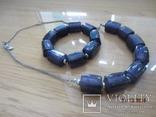 Кулон и браслет Marks&Spencer фиолетовое стекло, фото №6