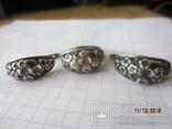 Кольцо и серьги серебро 875 звезда cccp, фото №2