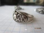 Кольцо и серьги серебро 875 звезда cccp, фото №5