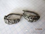 Кольцо и серьги серебро 875 звезда cccp, фото №7