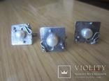 Жемчуг белый, серебро 925, комплект кольцо и серьги,, фото №4