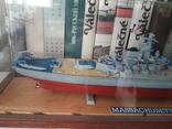 """Линкор USS """"Массачусетс"""" 1:720 (Revell) + футляр, фото №4"""